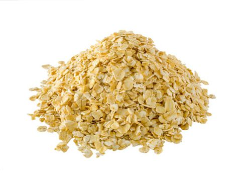 ए pile of oats on a white background