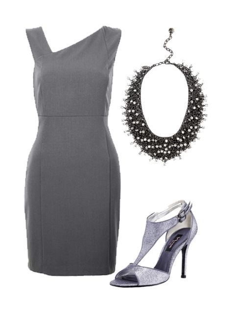 сив sheath dress and accessories