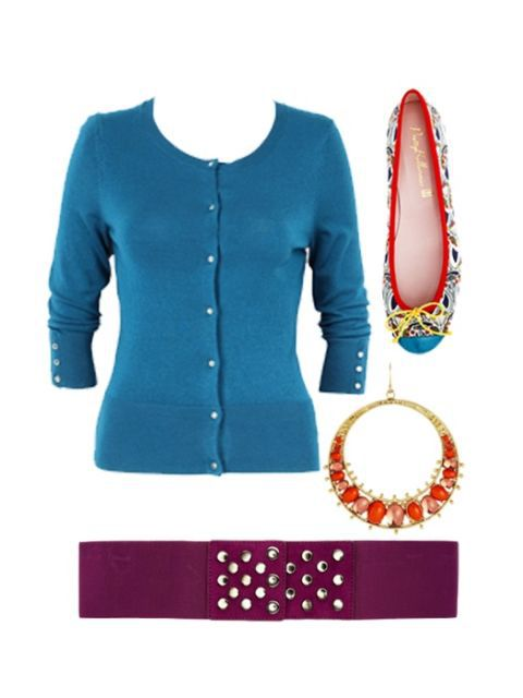 син cardigan and accessories
