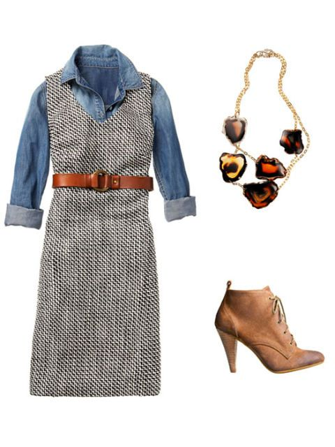 traper shirt outfit with necklace and shoes