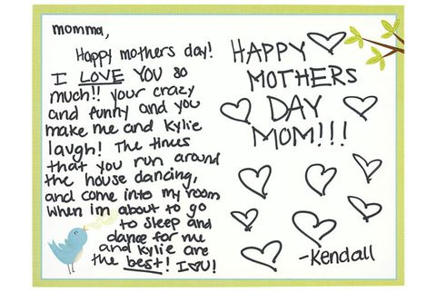 肯德尔 kardashian mothers day card