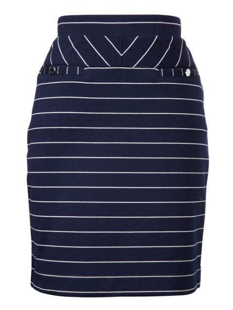 crno and white stripe skirt