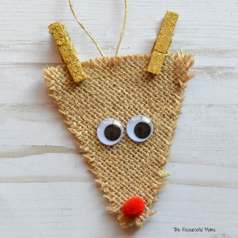λινάτσα reindeer ornaments