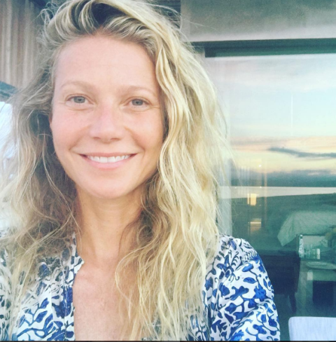 Gwyneth paltrow makeup free selfie
