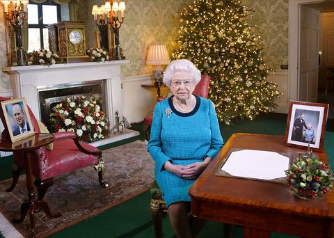 Det Queen in Buckingham Palace at Christmas