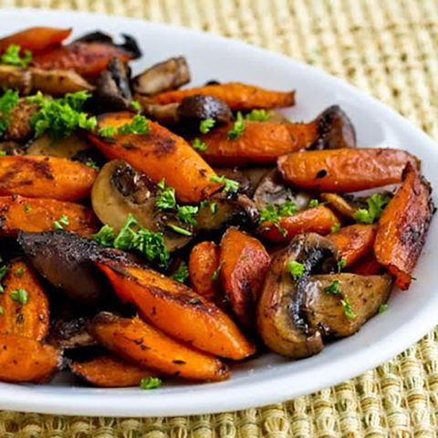 печено carrots and mushrooms paleo