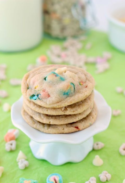 hvid Chocolate Lucky Charms Cookies